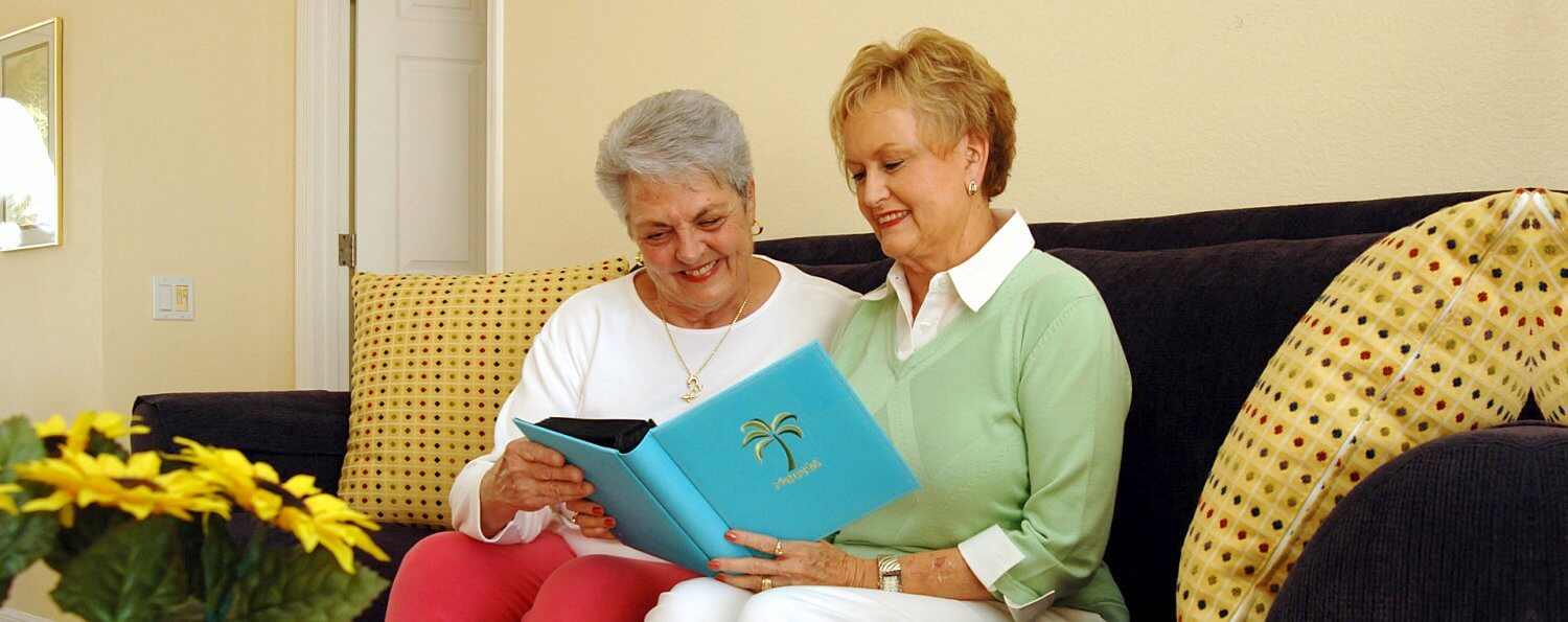 two elder reading