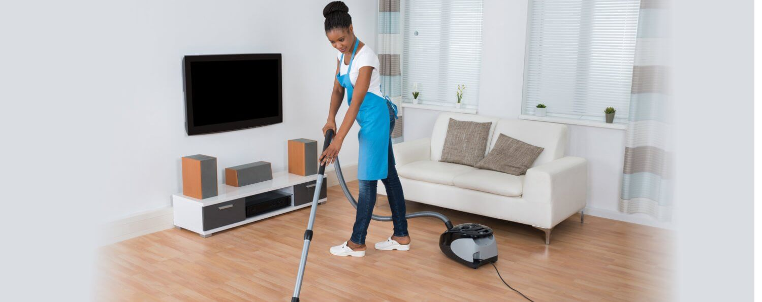 staff using vacuum